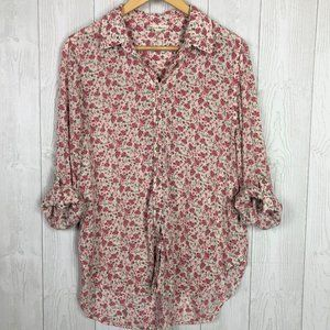 Jane and Delancey Long Sleeve Button Down Floral L